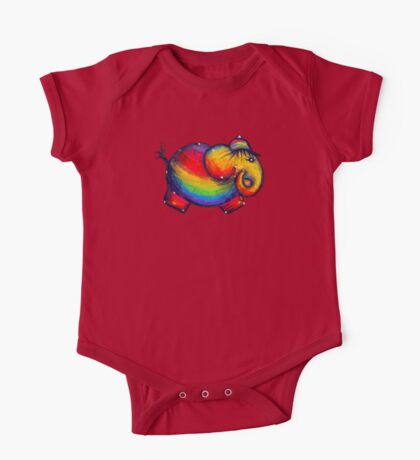 Rainbow Elephant Tshirt Kids Clothes