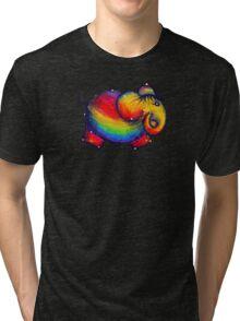Rainbow Elephant Tshirt Tri-blend T-Shirt