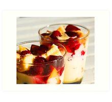 my mums trifle Art Print