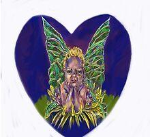 Dandy Leon, smiling faerie by Agy Wilson