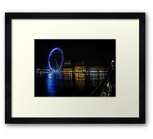 The London Eye on the South Bank Framed Print