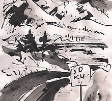 SPEED LIMIT 80 - BUMMER BW(C2010) by Paul Romanowski