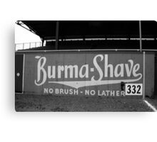 Baseball Field - Burma Shave Canvas Print