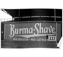 Baseball Field - Burma Shave Poster