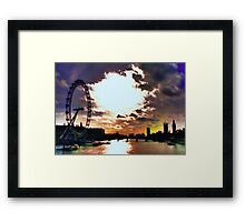 London - Winter Noon Framed Print