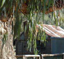A Bush Hut Australia. Sticker