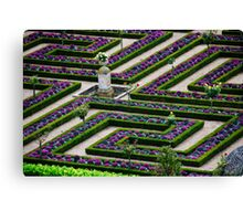 Formal Garden - Chateau Villandry, Loire Valley 2 Canvas Print