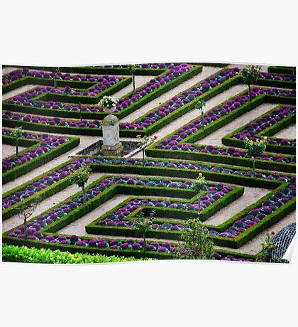 Formal Garden - Chateau Villandry, Loire Valley 2 Poster