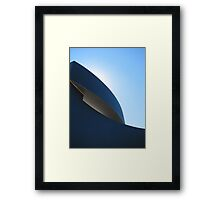 Blue sculpture Framed Print