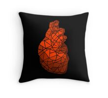geometric heart of courage Throw Pillow