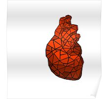 geometric heart of courage Poster