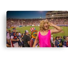 Miss Piggy entertains the crowd Canvas Print