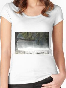 Mist in the bush. Women's Fitted Scoop T-Shirt