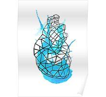 splattering heart Poster