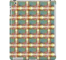 red flowers, spring tree branch, tie dye abstract, rectangle iPad Case/Skin