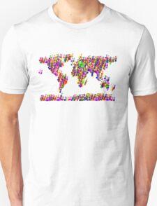 World Map Music Notes Unisex T-Shirt
