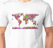 World Map Music Notes Unisex T-Shirt