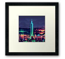 8-Bit World Framed Print