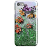Garden and Butterfly iPhone Case/Skin