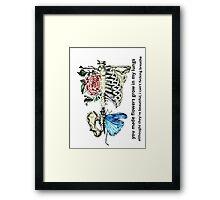 Flowers grew in my lungs Framed Print