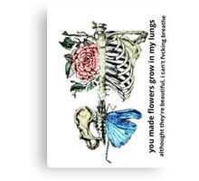 Flowers grew in my lungs Canvas Print