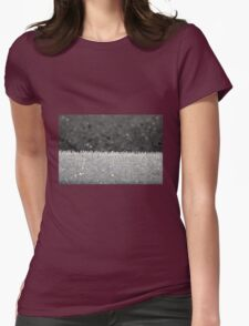 Winter Frost Ice Crystals Womens Fitted T-Shirt