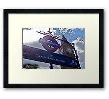 "London, England: ""Westminster Underground"" Framed Print"