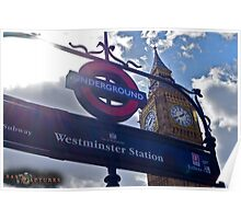 "London, England: ""Westminster Underground"" Poster"