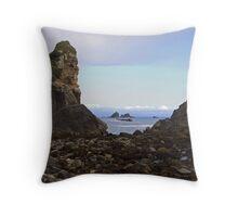 Coastal Rocks. Throw Pillow