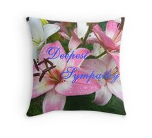 Deepest Sympathy Card Throw Pillow
