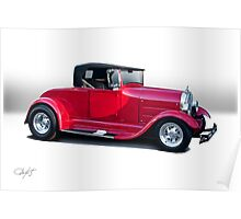 1929 Ford 'Classic Hot Rod Roadster' Poster