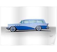 1956 Buick Century 'Low Rider' Wagon Poster