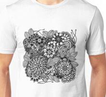 Taman Sari #2 Black and White Doodle Art Unisex T-Shirt
