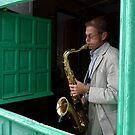 jazz in the window by ragman