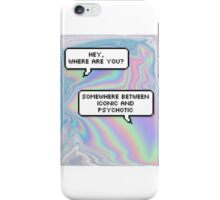 oil spill text bubble iPhone Case/Skin