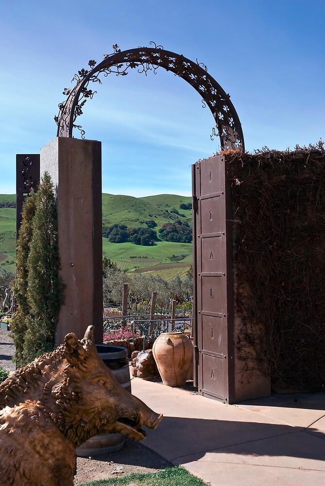 Garden Gateway at Viansa Winery, Sonoma Valley by MarkEmmerson
