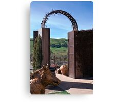 Garden Gateway at Viansa Winery, Sonoma Valley Canvas Print