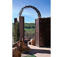 Garden Gateway at Viansa Winery, Sonoma Valley Photographic Print