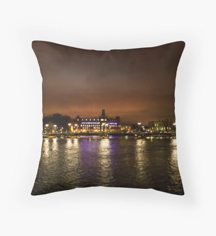 Stockholm at Night (Sweden) Throw Pillow
