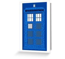 Doctor Who Quotes (Blue BG) Greeting Card