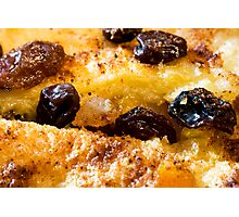 Bread and butter pudding Photographic Print