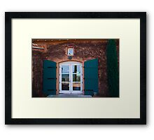 Shuttered Doorway Reflections, Viansa Winery, California Framed Print