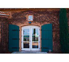Shuttered Doorway Reflections, Viansa Winery, California Photographic Print