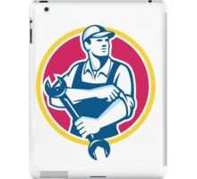 Mechanic Holding Spanner Rolling Sleeve Retro iPad Case/Skin