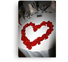 Red Rose Heart Love Canvas Print