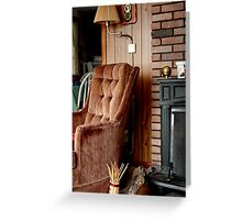 Comfy Cabin Chair Greeting Card