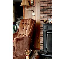 Comfy Cabin Chair Photographic Print