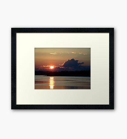 Early Summer Sunset Framed Print