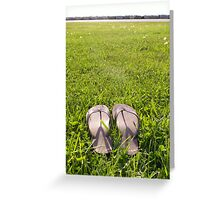lonely sandals Greeting Card