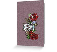 Skull & Roses-Graffit Art Greeting Card